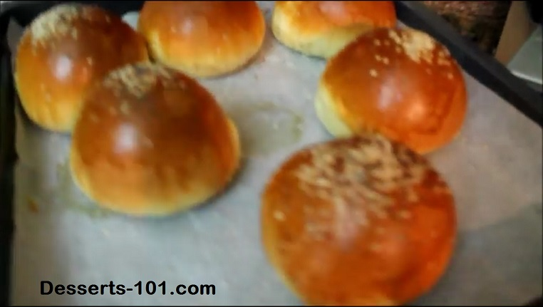 Dinner Rolls coming out the oven.