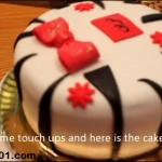 Zebra Fondant Layer Cake Tutorial