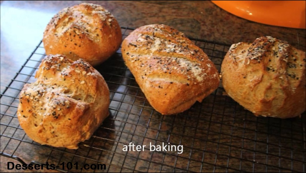 4 loaves of the best dark rye bread