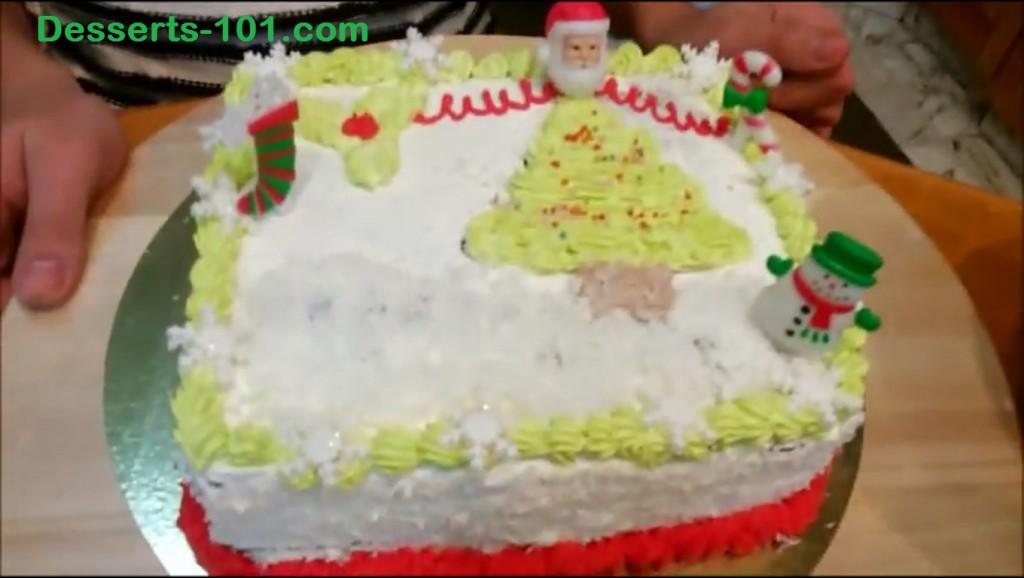 The finished cake! Happy Holidays!
