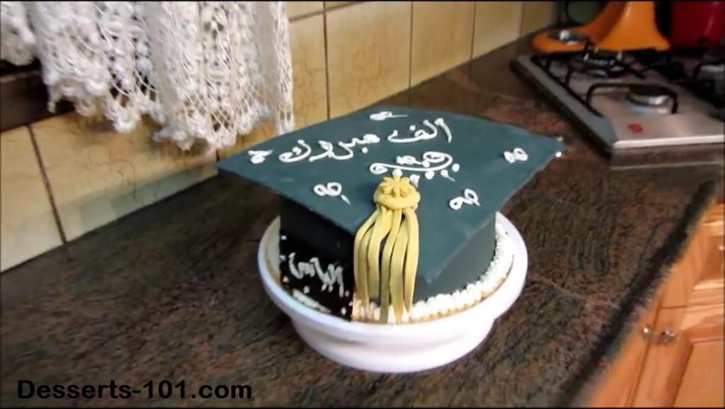 how to make a graduation hat cake tutorial desserts 101 com