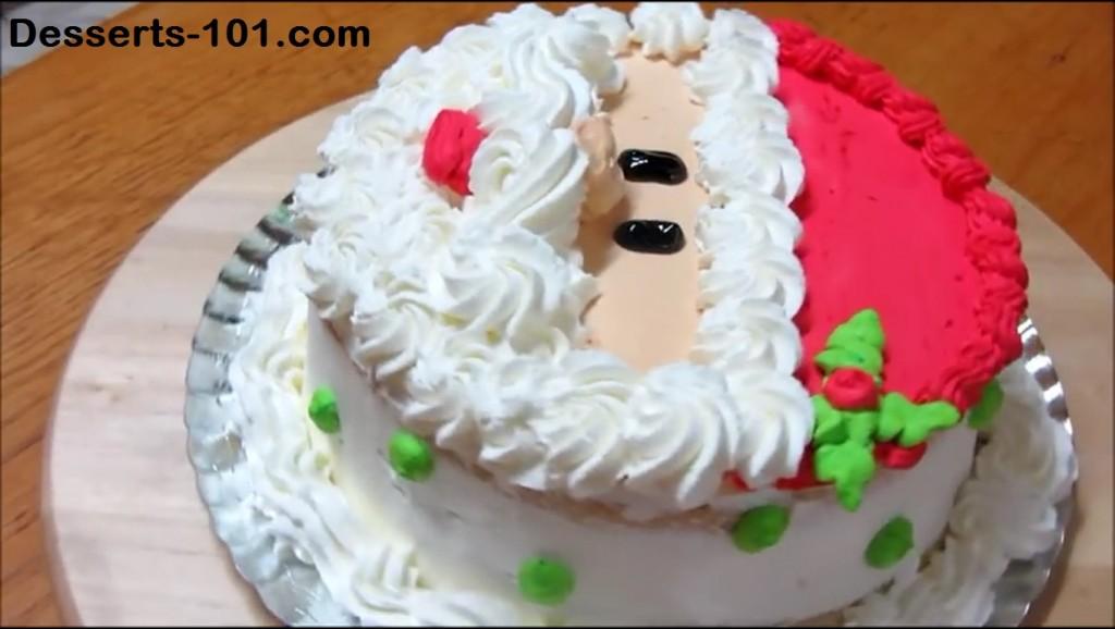 How To Make A Santa Claus Cake
