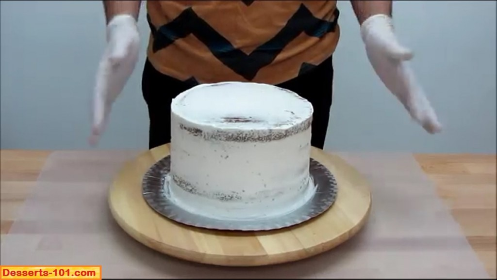 Crumb Iced Cake