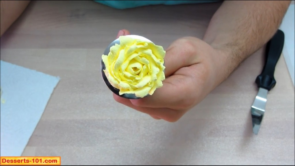 Completed Buttercream Rose
