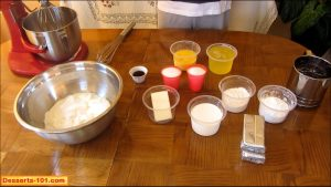 Cheesecake ingredience.